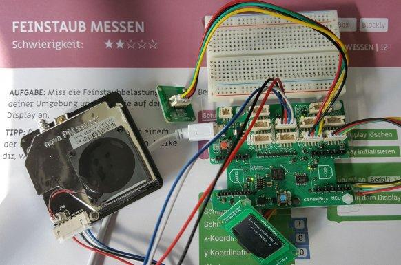 Mit der Sensebox ein feinstaubmessgerät bauen und programmieren